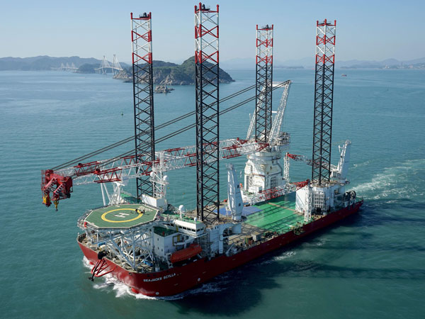 Seajacks Scylla self-propelled jack-up vessel