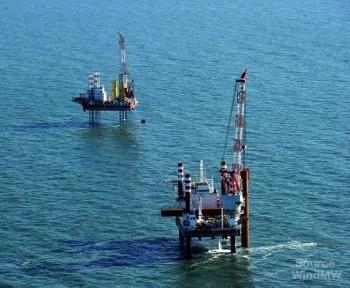 Seajacks work at Meerwind Offshore Wind Park