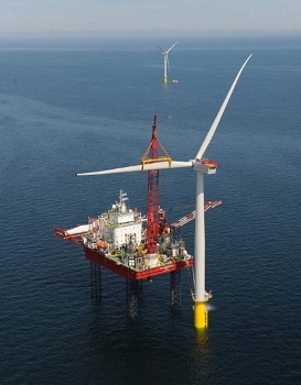 Wind turbine installation at Walney 2 completed