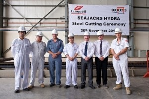 Seajacks Hydra Steel Cutting