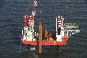 Seajacks completes monopile installation at Meerwind
