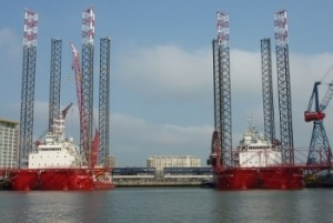 Seajacks Kraken and Leviathan mobilise for Walney 2 Project